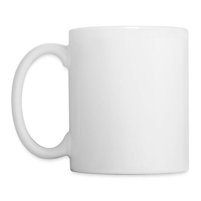 Ceramic mug black/crimson logo