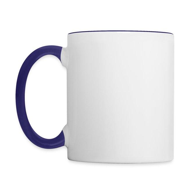 Ceramic contrast mug black/crimson logo