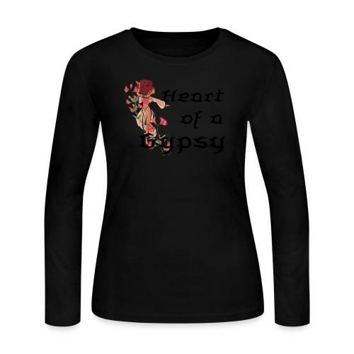 Heart of a Gypsy Long-Sleeved Tee - Women's Long Sleeve Jersey T-Shirt