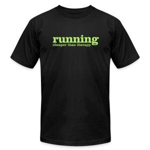 Running. Cheaper than therapy Men's T - Men's Fine Jersey T-Shirt
