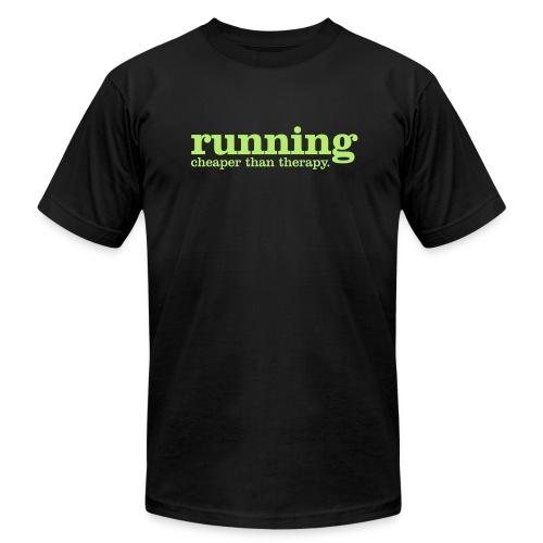Running. Cheaper than therapy Men's T - Men's  Jersey T-Shirt