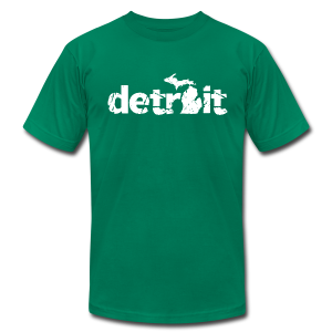 DETROIT-MICHIGAN - Men's T-Shirt by American Apparel