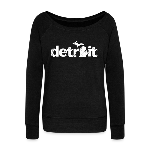 DETROIT-MICHIGAN - Women's Wideneck Sweatshirt