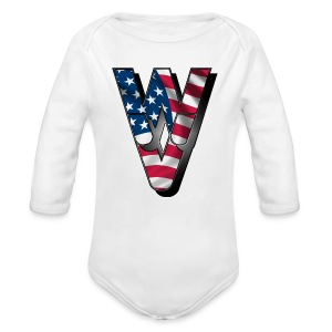 WVUSA - Long Sleeve Baby Bodysuit