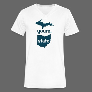 Up Yours Ohio - Men's V-Neck T-Shirt by Canvas