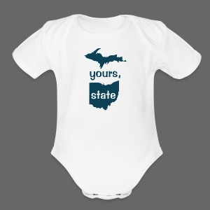 Up Yours Ohio - Short Sleeve Baby Bodysuit