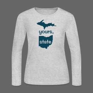 Up Yours Ohio - Women's Long Sleeve Jersey T-Shirt