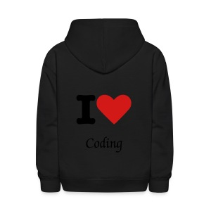 I love coding Sweater Black - Kids' Hoodie
