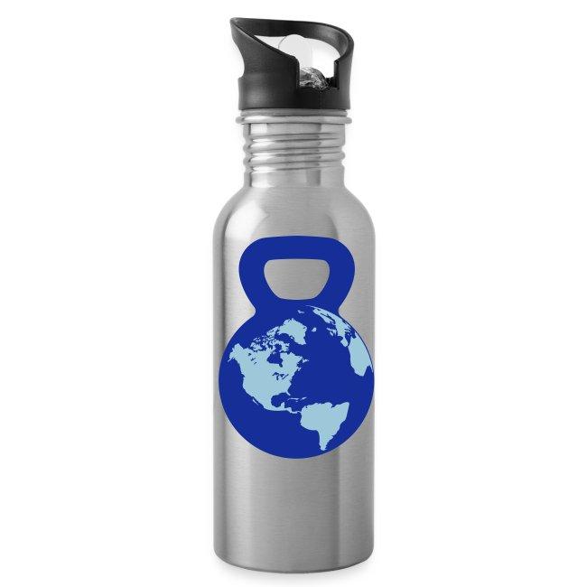 Kettlebell World Water Bottle