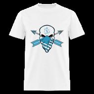 T-Shirts ~ Men's T-Shirt ~ American Skull Legend Blue
