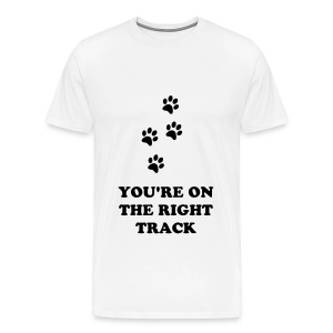 PAW TRACKS T-SHIRT - Men's Premium T-Shirt