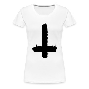 Upside Down Cross T - Women's Premium T-Shirt