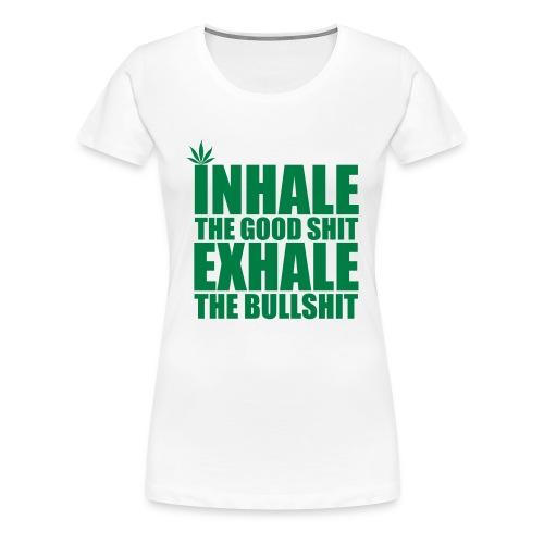 Inhale Green T - Women's Premium T-Shirt