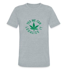 men's tri-blend vintage shirt yes we can legalize it - Unisex Tri-Blend T-Shirt by American Apparel