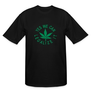 men's tall shirt yes we can legalize it - Men's Tall T-Shirt
