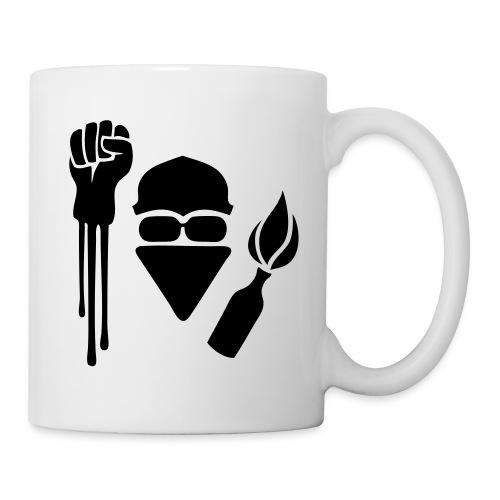 Raised Fist Anarchist Stencil Coffee Mug - Coffee/Tea Mug