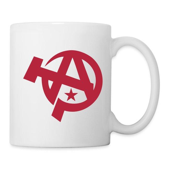 Neo Faction Apparel Anarcho Communist Symbol Coffee Mug