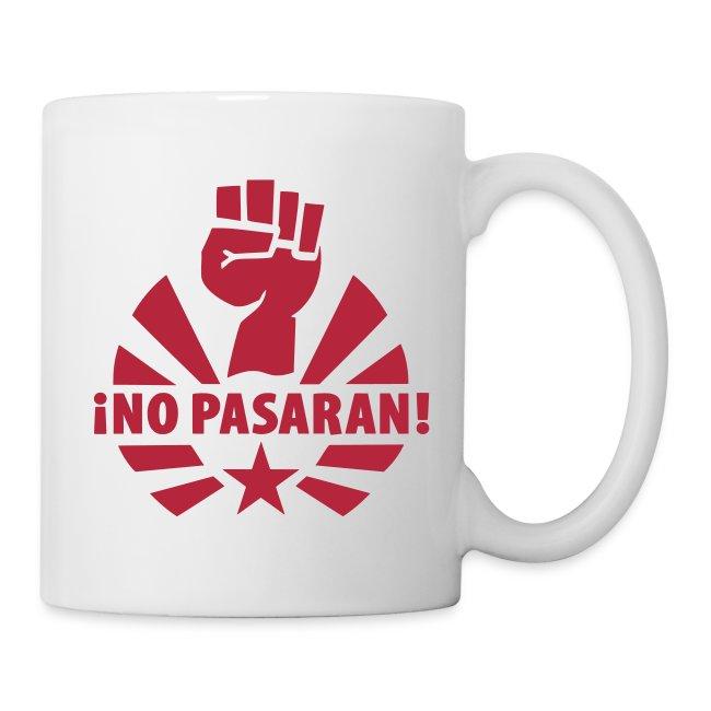 No Pasaran Raised Fist Coffee Mug