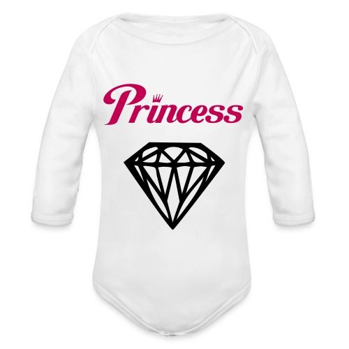 Baby Girl Princess   - Organic Long Sleeve Baby Bodysuit