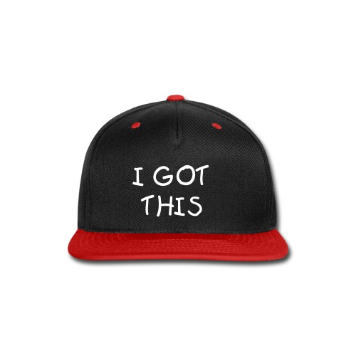 L-A Mar I Got This Snapback (Red and Black) Colored Crown - Snap-back Baseball Cap