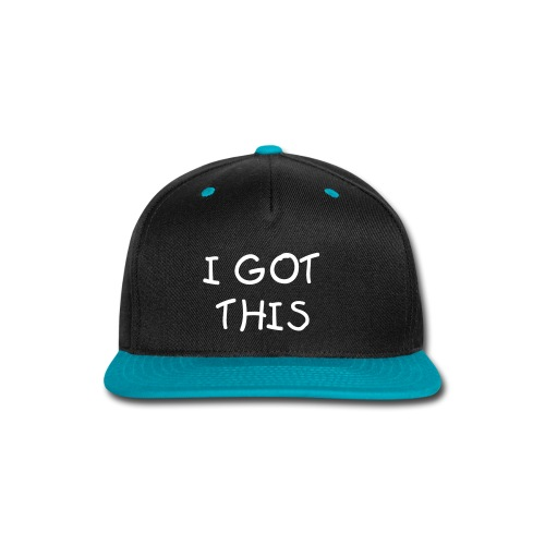 L-A Mar I Got This Snapback (Teal and Black) Colored Crown - Snap-back Baseball Cap