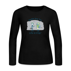 Random Drug Test - Womens Longsleeve T-shirt - Women's Long Sleeve Jersey T-Shirt
