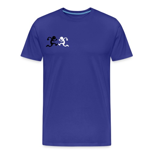 BLACK and white label running man - Men's Premium T-Shirt