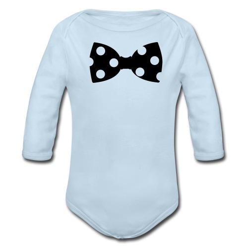 bowtie baby  - Organic Long Sleeve Baby Bodysuit