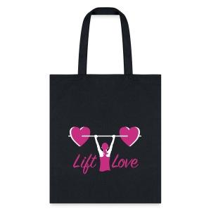 Lift Love Women's Canvas Tote - Tote Bag