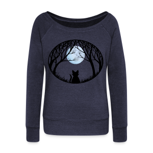 Fat Cat Sweatshirt Women's Cat Lover Shirts & Gifts  - Women's Wideneck Sweatshirt