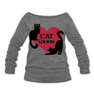 Cat Lover Sweatshirt Women's Cat Lover Shirts & Gifts  - Women's Wideneck Sweatshirt