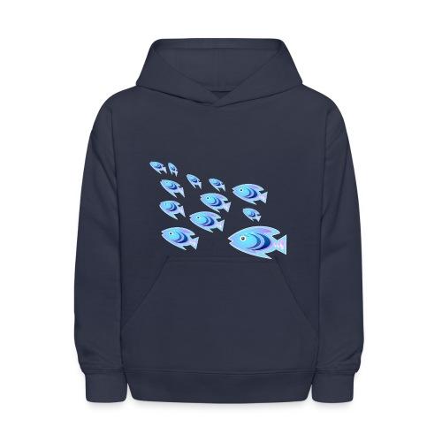 Aqua Blue Ladyfish  - Kids' Hoodie