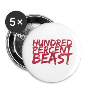 Hundred Percent Beast Buttons - Large Buttons