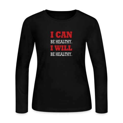 I Can Be Healthy. - Women's Long Sleeve Jersey T-Shirt