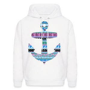 Tribal Pattern Anchor Sweater - Men's Hoodie