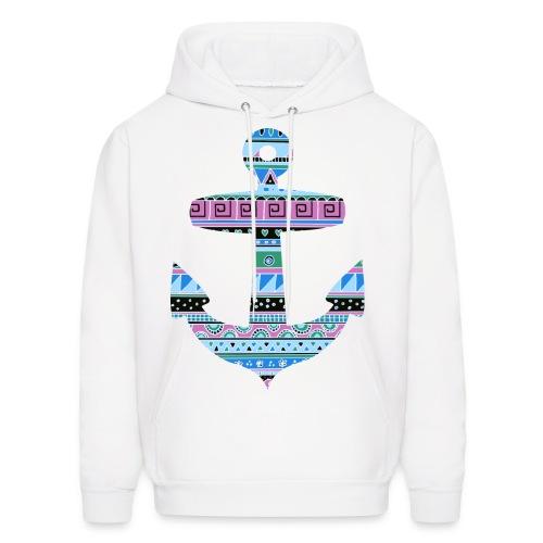 Tribal Pattern Anchor Sweater - Men's Hoodie