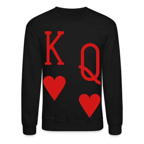 Men's Crewneck Sweatshirt (Hearts) - Crewneck Sweatshirt
