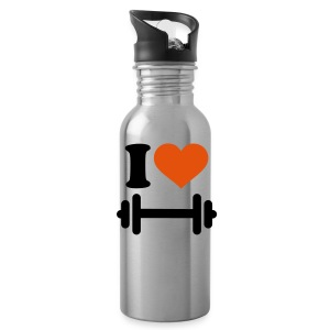 I love Barbell Bottles & Mugs - Water Bottle