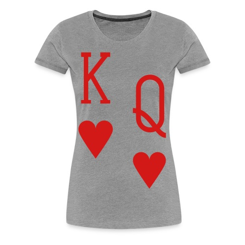 Women's T-Shirt (Hearts) - Women's Premium T-Shirt