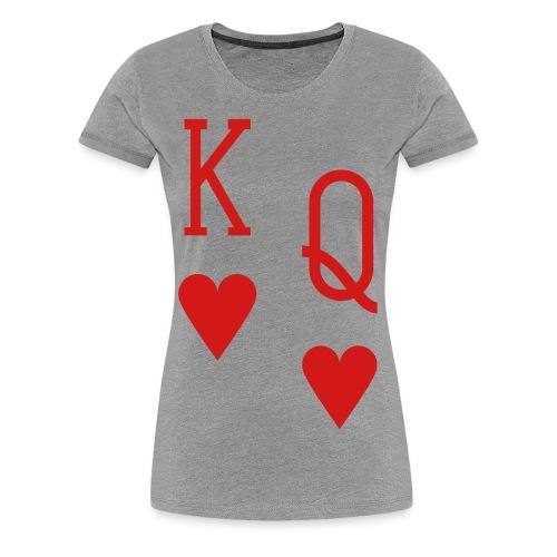 Women's T-Shirt (Hearts) - Women's Premium T-Shirt
