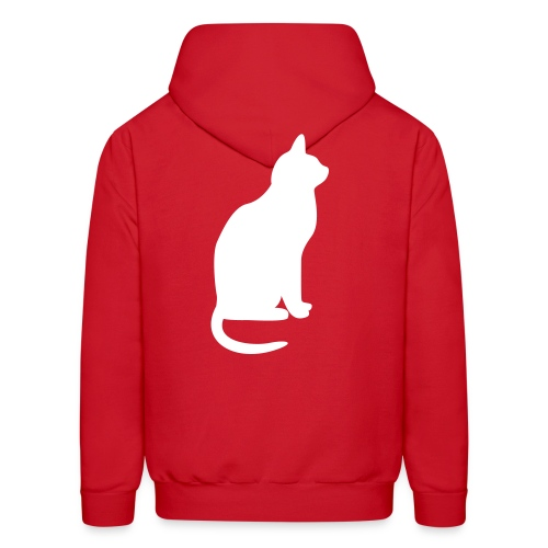 Customizable Hoodie w/ Cat Men's white print - Men's Hoodie