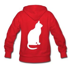 Customizable Hoodie w/ Cat Women's white print - Women's Hoodie
