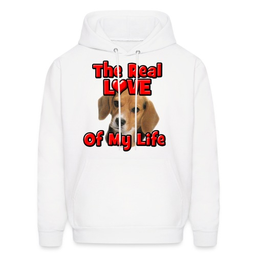 Beagle, The Real Love Of My Life - Men's Hoodie