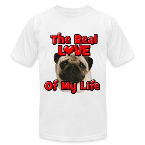 Pug, The Real Love Of My Life - Men's Fine Jersey T-Shirt