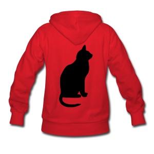 Customizable Hoodie w/ Cat Women's black print - Women's Hoodie
