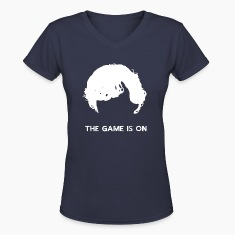 The Game Is On - Sherlock Women's V-Neck