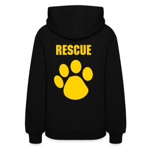 Customizable RESCUE Print Pullover Hoodie Women's Hoodie - Women's Hoodie