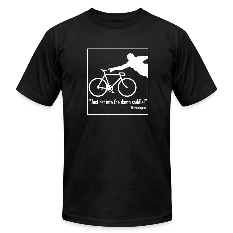 Michelangelo on Cycling - Men's T-Shirt by American Apparel