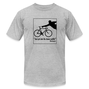 Michelangelo on Cycling - Men's Fine Jersey T-Shirt