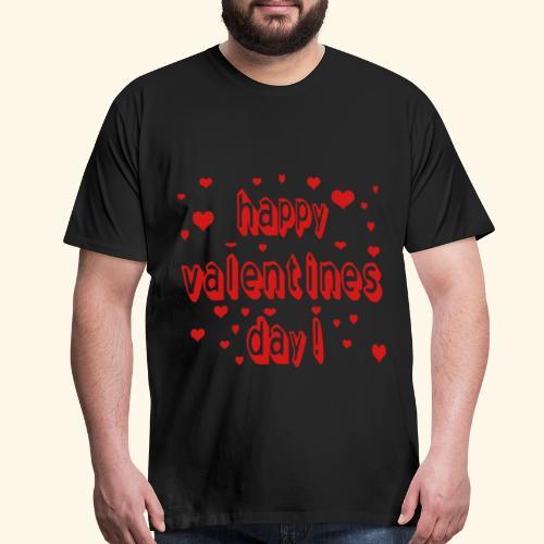happy valentines day - Men's Premium T-Shirt